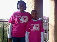 Corey and Yavni Stratton Supporting Breast Cancer Awareness